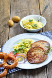 Alimento bavarese Fotografia Stock