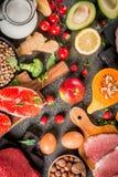 Alimento biológico sano fotografía de archivo