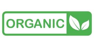 Alimento biologico, icone del prodotto fresco e naturale dell'azienda agricola e raccolta degli elementi per il mercato dell'alim illustrazione vettoriale