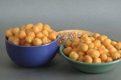 Alimento, bolas del queso Fotos de archivo libres de regalías