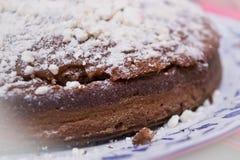 Alimento: Bolo de chocolate Fotografia de Stock