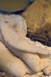 Alimento brasileiro: Beiju (igualmente conhecido como tapiocas) Foto de Stock Royalty Free