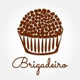 Alimento brasiliano Brigadeiro Immagini Stock