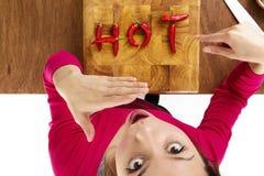 Alimento caldo Immagine Stock