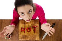 Alimento caldo Immagini Stock