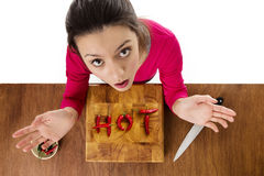 Alimento caldo Fotografia Stock Libera da Diritti