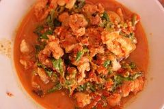 Alimento caldo e piccante tailandese del curry, Fotografia Stock