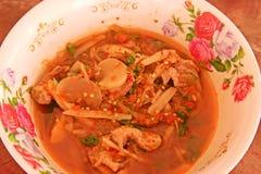 Alimento caldo e piccante tailandese del curry, Immagine Stock