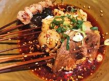 Alimento caldo e piccante tradizionale cinese Fotografia Stock Libera da Diritti
