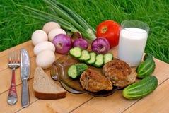 Alimento calorico fotografie stock