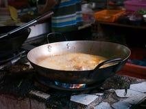 Alimento cambojano que está sendo preparado Fotografia de Stock