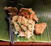 alimento casalingo tradizionale del pecel Fotografie Stock