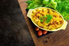 alimento caseiro do macarrão e do queijo Fotografia de Stock