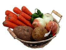 Alimento: Cesta del Veggie Fotos de archivo libres de regalías