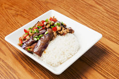 Alimento chinês --Beringela Fotografia de Stock Royalty Free