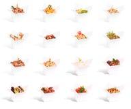 Alimento chinês em uma coleção do recipiente Foto de Stock