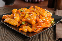 Alimento chinês, galinha alaranjada Fotos de Stock Royalty Free