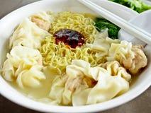 Alimento chinês, macarronete 1 do wonton Fotografia de Stock Royalty Free
