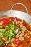 Alimento chinês--Potenciômetro da carne Imagens de Stock