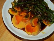 Alimento chinês preservado do ovo fotos de stock