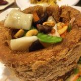 Alimento chinês Yam Ring fotografia de stock