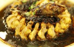 Alimento chino - anguila fotografía de archivo