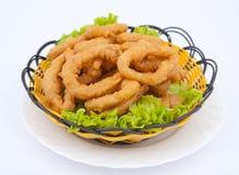 Alimento chino - calamari fotografía de archivo