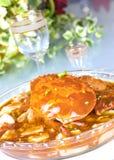 Alimento chino del cangrejo Imagen de archivo