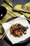 Alimento chino - pollo de Szechuan Fotos de archivo libres de regalías