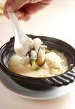 Alimento chino, sopa de los pescados fotos de archivo