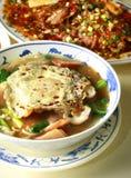 Alimento chino, tallarines Fotografía de archivo