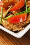 Alimento chino - tomates y pescados Imágenes de archivo libres de regalías