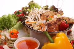Alimento cinese, con il fuoco poco profondo Fotografia Stock