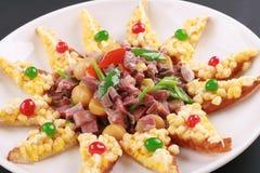 Alimento cinese del pancake del cereale Fotografie Stock