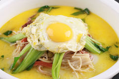 Alimento cinese della seta asciutta dell'uovo Immagine Stock