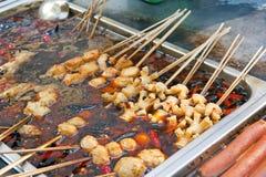 Alimento cinese della via Immagine Stock