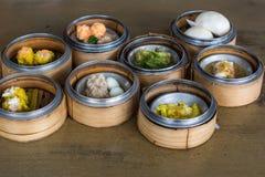Alimento cinese: Dim Sum Fotografie Stock Libere da Diritti