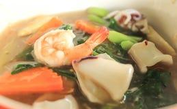 Alimento cinese e tailandese di stile. nella lingua tailandese la chiamata è Fotografia Stock Libera da Diritti