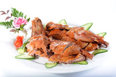 Alimento cinese: Fried Chicken Immagine Stock