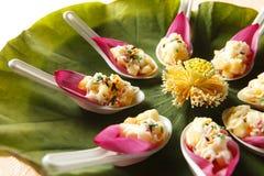 Alimento cinese, insalata con sapore del loto Fotografia Stock Libera da Diritti