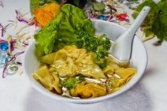 Alimento cinese, minestra cinese Immagini Stock Libere da Diritti