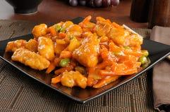 Alimento cinese, pollo arancione Fotografie Stock Libere da Diritti
