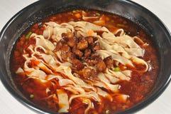 Alimento cinese - tagliatelle Fotografie Stock
