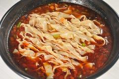 Alimento cinese - tagliatelle Fotografia Stock Libera da Diritti
