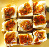 Alimento cinese, tofu Fotografia Stock