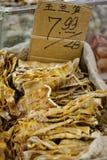 Alimento cinese in un mercato di prodotti freschi Fotografie Stock Libere da Diritti