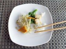 Alimento cinese vegetariano Fotografie Stock Libere da Diritti