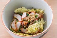 Alimento cinese, Wonton e tagliatella Immagine Stock