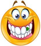 Alimento colado no emoticon dos dentes Imagens de Stock Royalty Free