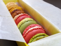 Alimento coloful de Macaron Imagens de Stock